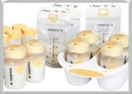 Breast milk storage: glass, plastic and storage bags