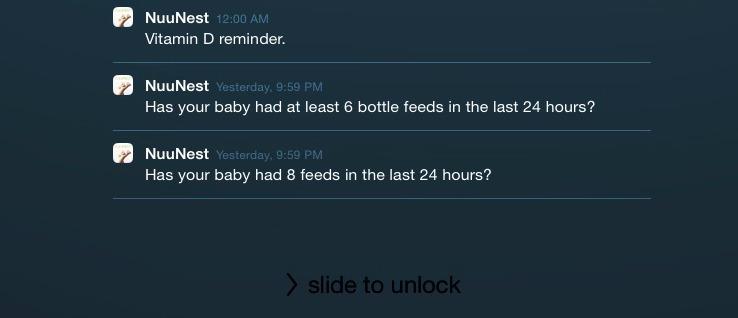 NuuNest's reminders