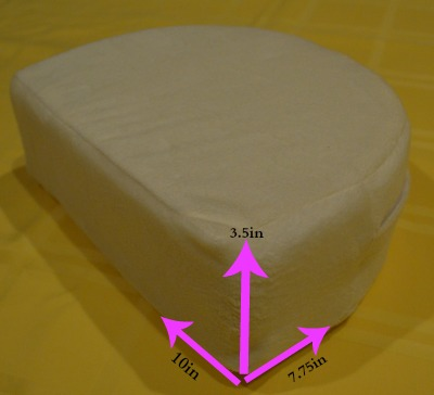 Back support pillow dimensions
