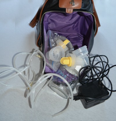 Maddy breast pump bag with accessories