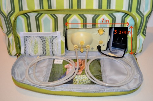 Nurse Purse zippered pocket with pump opening