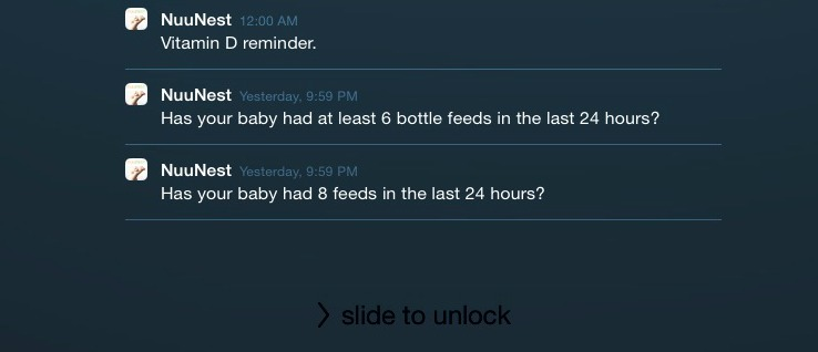 NuuNest's reminders